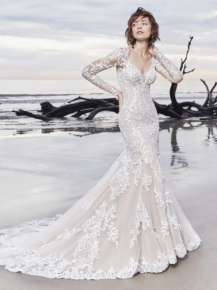 Dakota Lace Fit and Flare wedding dress by Sottero and Midgley