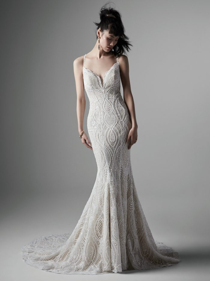Daxton Lace Fit-and-flare Wedding Dress by Sottero and Midgley