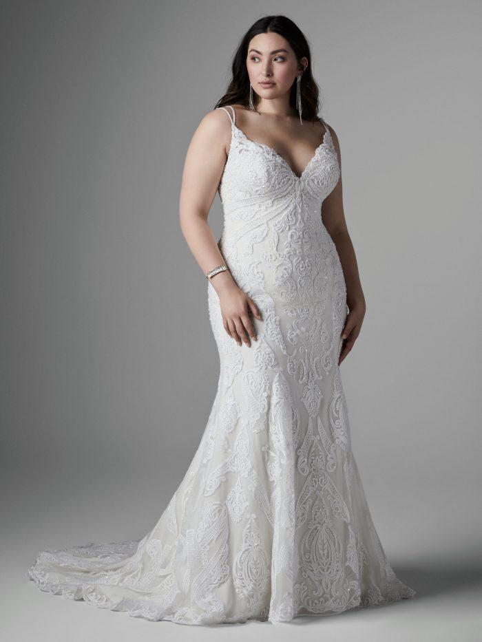 Devon Plus-Size lace wedding dress by Sottero and Midgley
