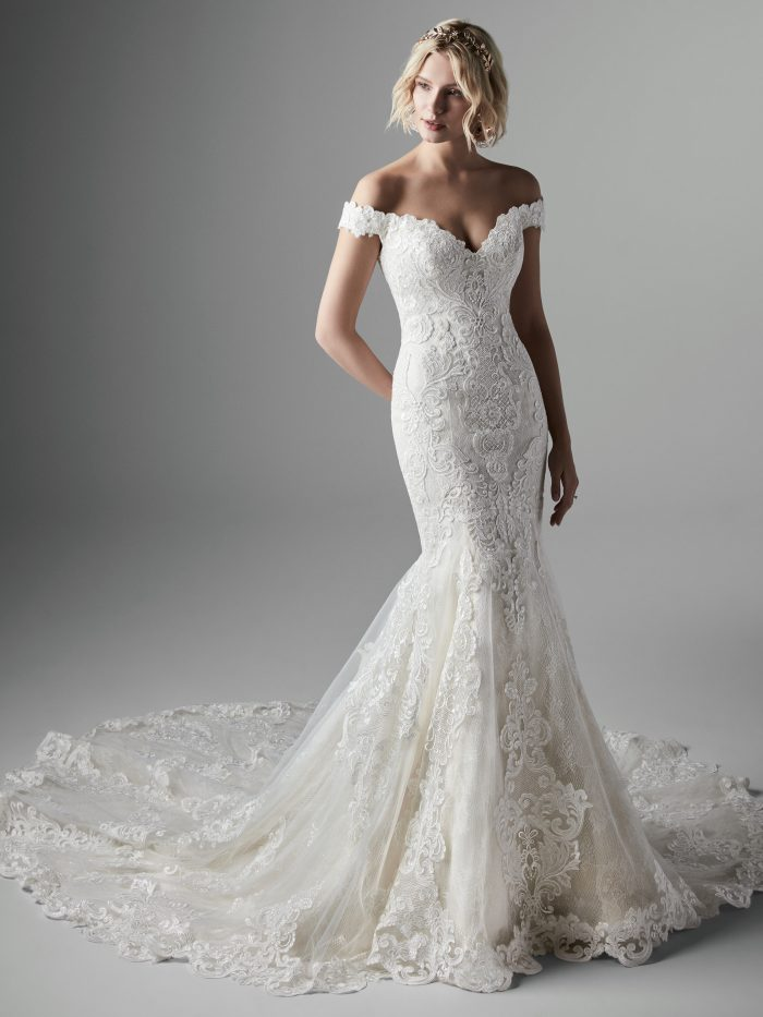 Kennedy Lace Mermaid Wedding Dress by Sottero and Midgley