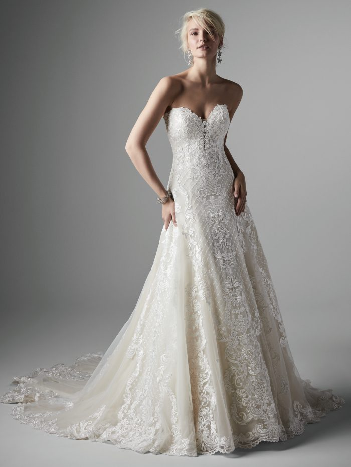 Sarita Lace A-line Wedding dress by Sottero and Midgley