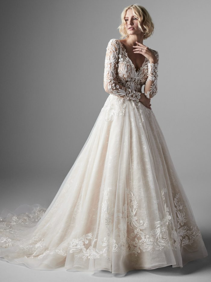 Zander Lace Ballgown Wedding Dress by Sottero and Midgley