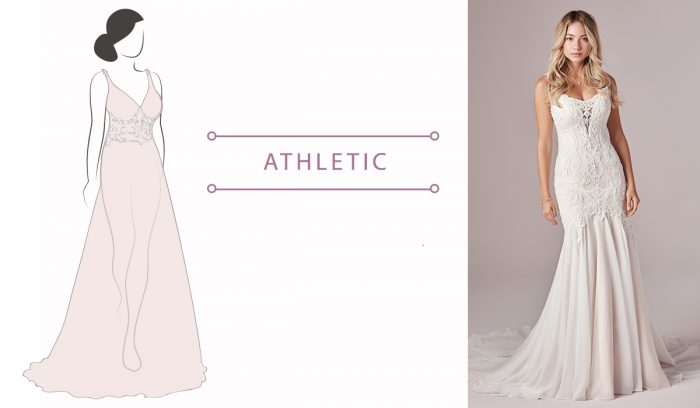 Athletic body shape help to find the wedding dress for your body type