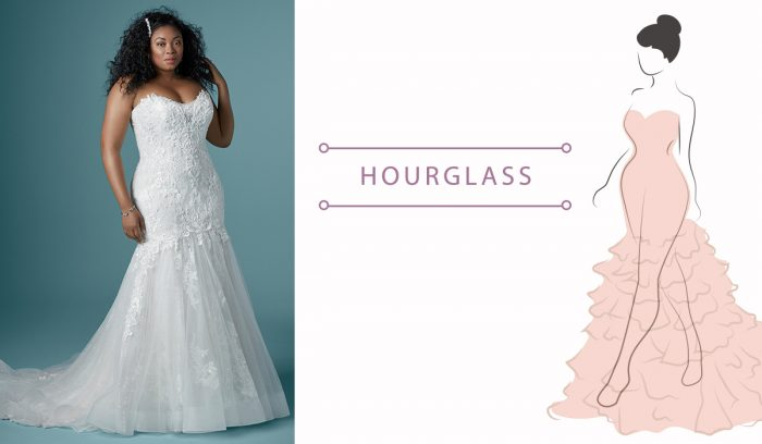 Finding the Perfect Wedding Dress for Your Body Type Hourglass dresses