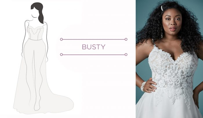 Busty brides finding wedding dress for your body type