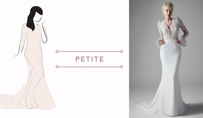 Finding your wedding dress for your body type for petite brides