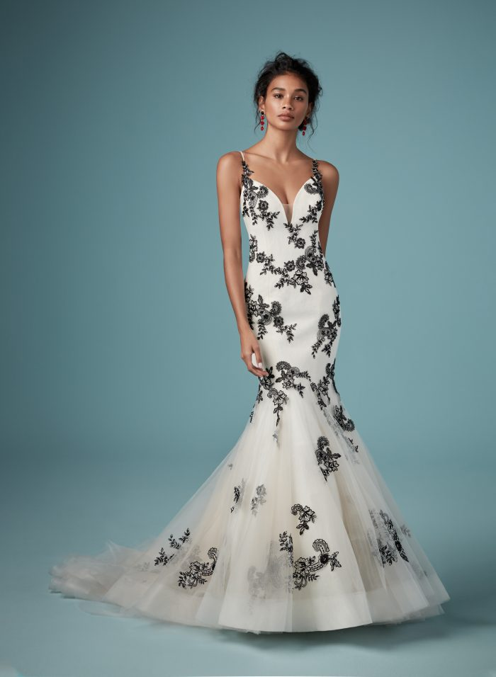Ally Black Lace Wedding Dress by Maggie Sottero