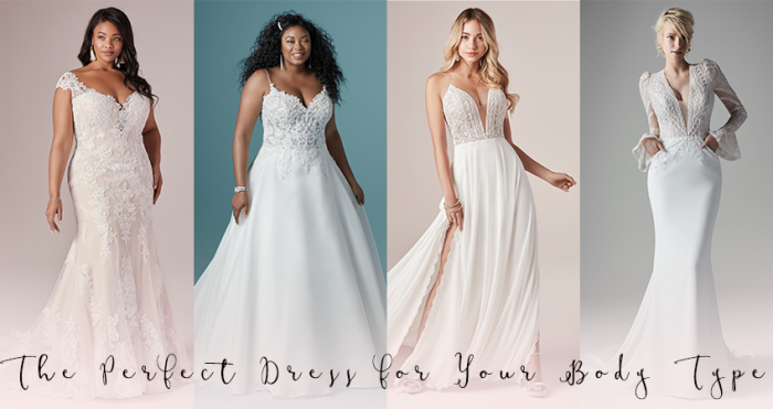 Collage of Wedding Dresses for finding the dress for your body type