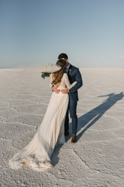 Bride Wearing Boho Veil and Wedding Gown Called Deirdre by Maggie Sottero