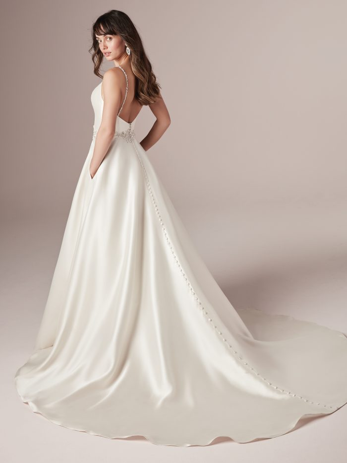 Yara Satin Aline Wedding dress by Rebecca Ingram