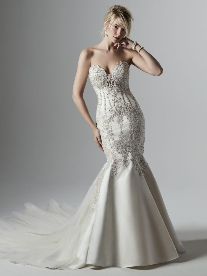 Darren Satin Lace Wedding dress by Sottero and Midgley