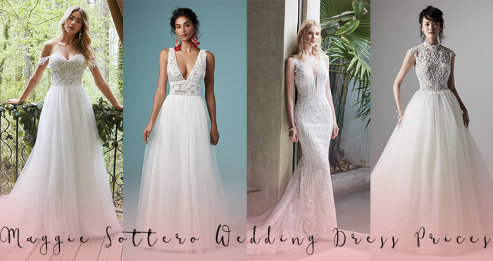 Collage of Maggie Sottero Wedding Dresses with Text Overlay