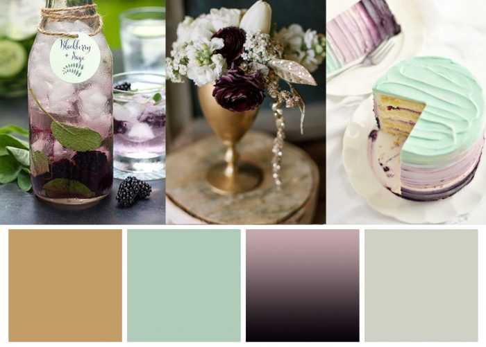 Mint and Blackberry Winter Wedding Palette