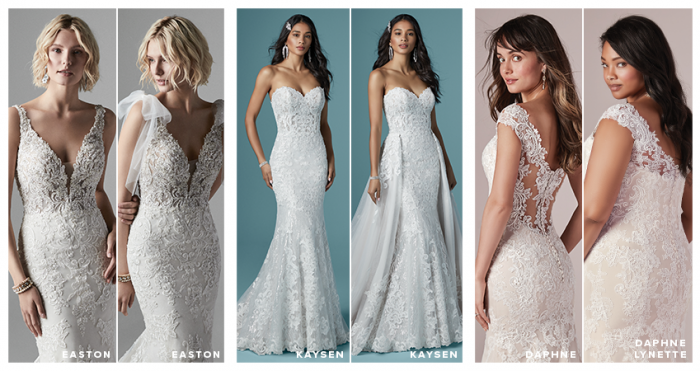 Collage of Customizable Wedding Dresses