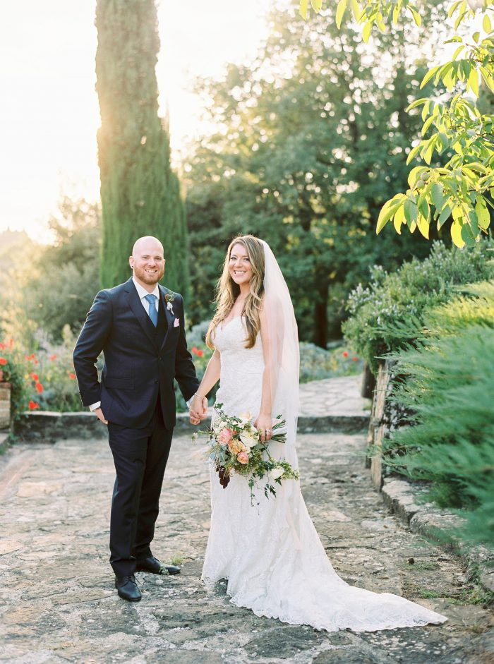 Real Curvy Bride Wearing Curvy Wedding Gown Called Hadley by Sottero and Midgley at wedding in Italy