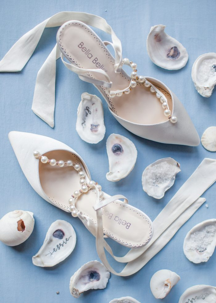 Classic Blue Details with Wedding Shoes