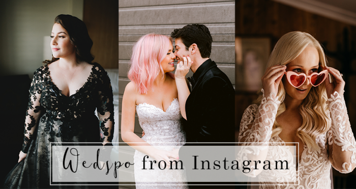 Collage of Brides in Wedding Dresses from Maggie Sottero Instagram