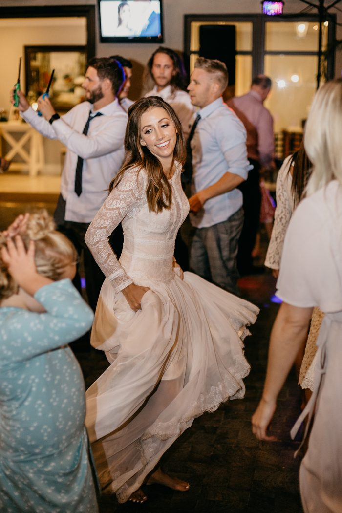 Bride Dancing at Wedding