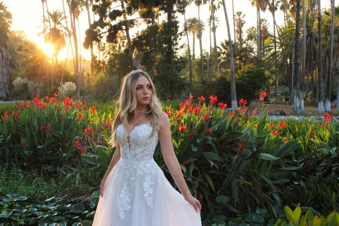 Singer Michelle Ray Wearing Stevie Wedding Dress by Maggie Sottero