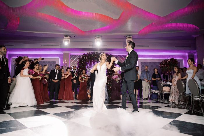 Real Bride and Groom in the Middle of Dance Floor