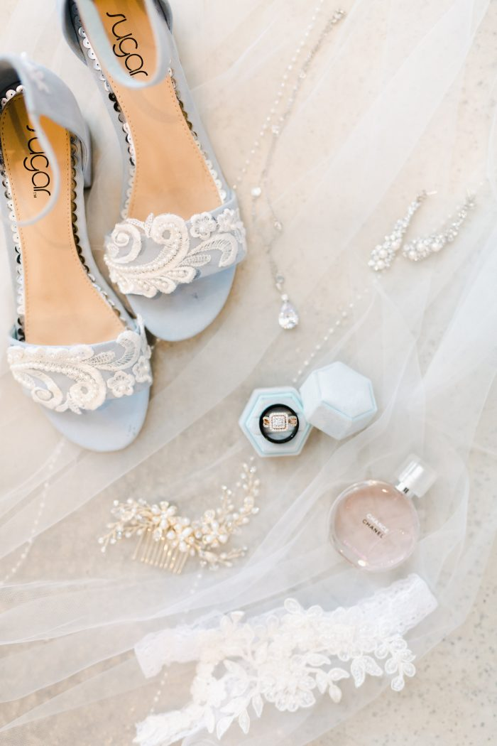 Light Blue Pastel Open Toe Shoes for Spring Wedding