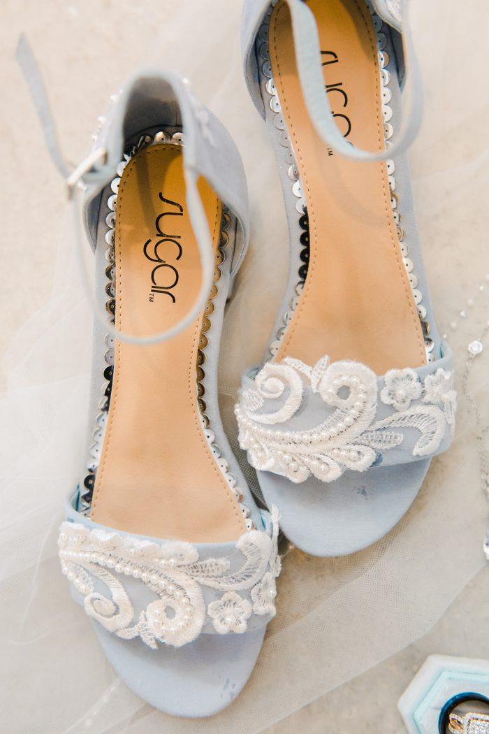 Pastel Blue Shoes in Summer Wedding Color Palette