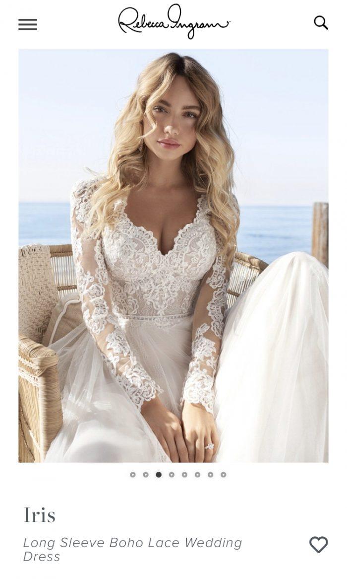 Screenshot of Finding a Rebecca Ingram Wedding Dress Through Maggie Sottero's Dress Finder Feature on Their Website