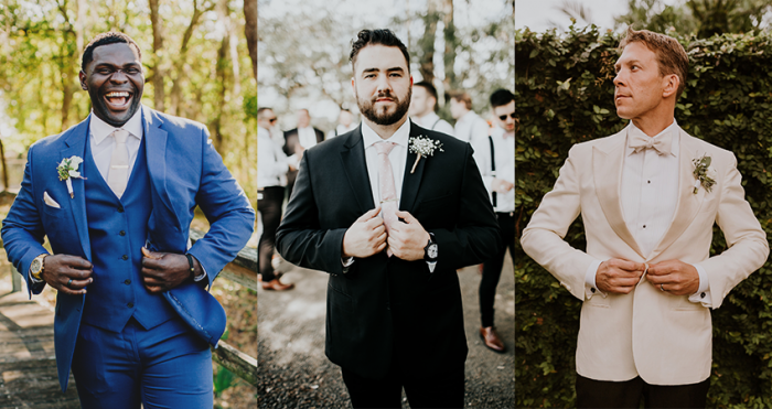 Collage of Groom Wearing Groom Wedding Attire For 2020