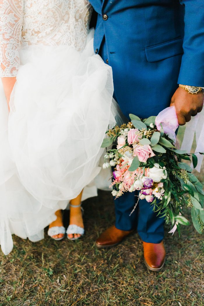 Open Toe Wedding Shoes at Real Florida Wedding