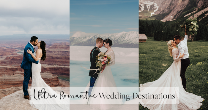Collage of Real Couples in Romantic Wedding Destinations Around the World