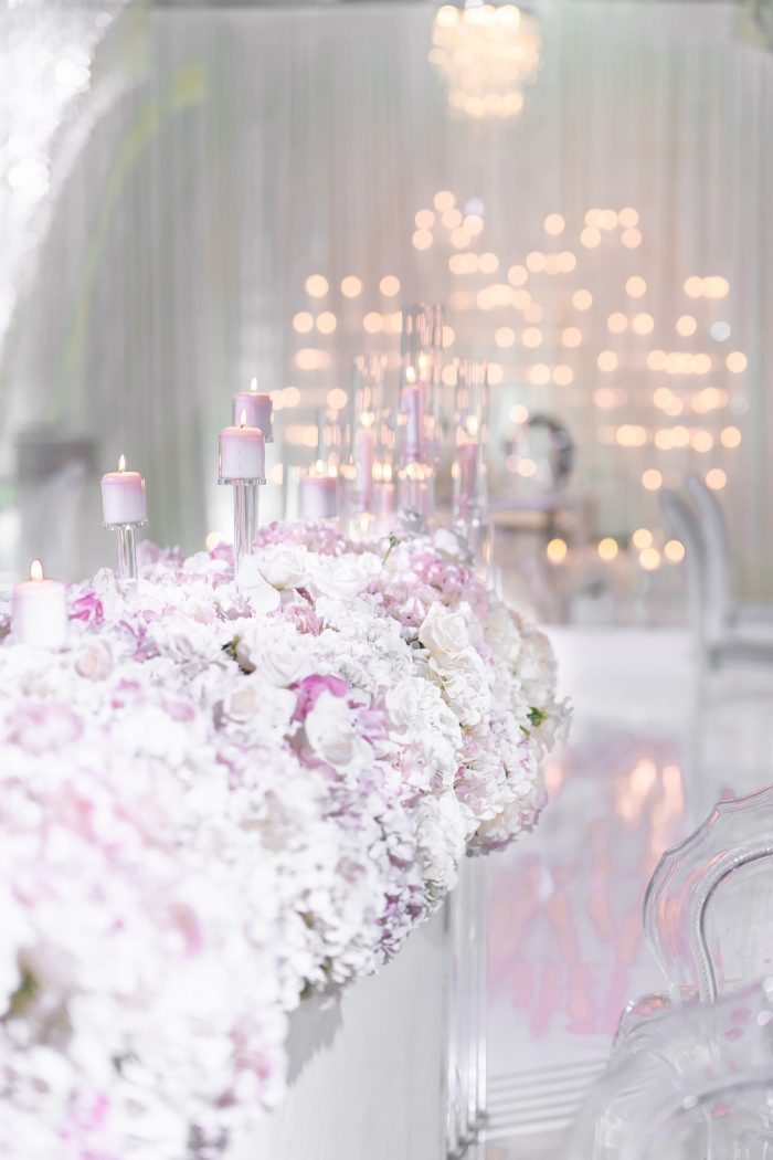 Sparkly Lights at Luxurious Socially Distanced Wedding