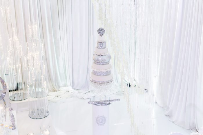 Sparkly Luxurious White Wedding Cake