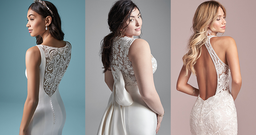 11 Dramatic Back Wedding Dresses For The Statement Bride