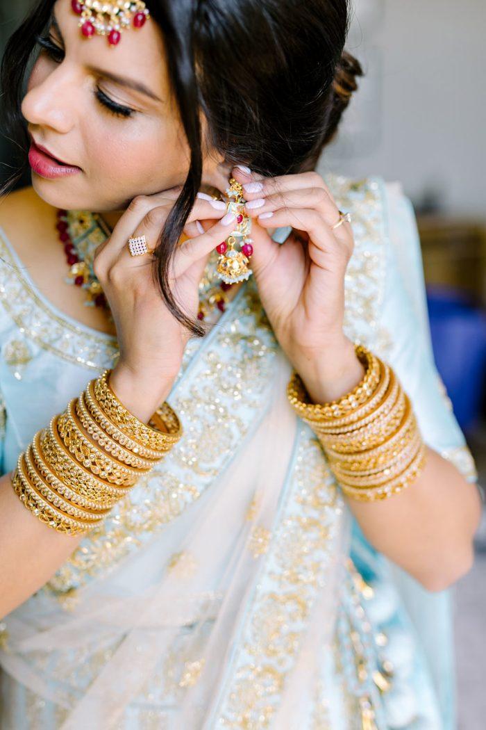 Indian Bride Wearing Traditional Hindu Clothing
