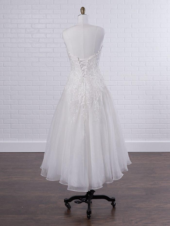Strapless Lace Tea Length Wedding Dress Called Darlene Lane by Rebecca Ingram