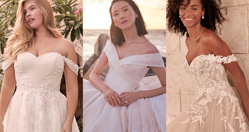 Collage of Models Wearing Dreamy Ball Gown Wedding Dresses by Maggie Sottero