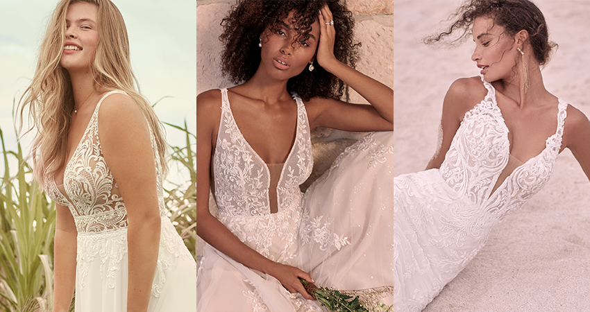 Collage of Top Wedding Dresses From Maggie Sottero's Spring 2021 Collections