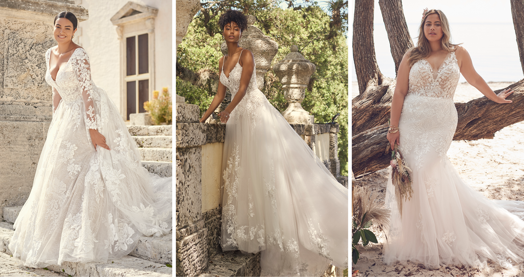 Collage of Brides Wearing the Most Popular Wedding Dresses from Maggie Sottero's Fall 2021 Collections