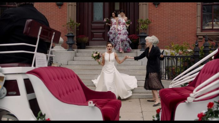 Movie Still of Love, Weddings, and Other Disasters of Maggie Grace Wearing Maggie Sottero Wedding Dress Rhiannon