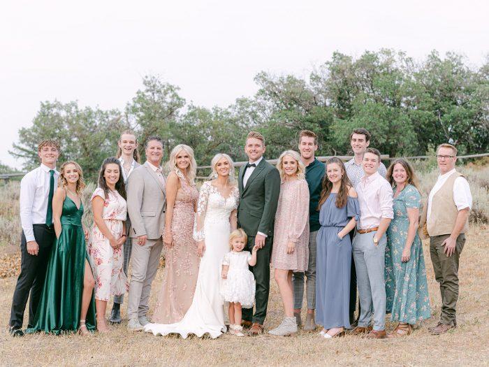 Bridal Party at Ashlee Jensen's Intimate Summer Wedding in Utah