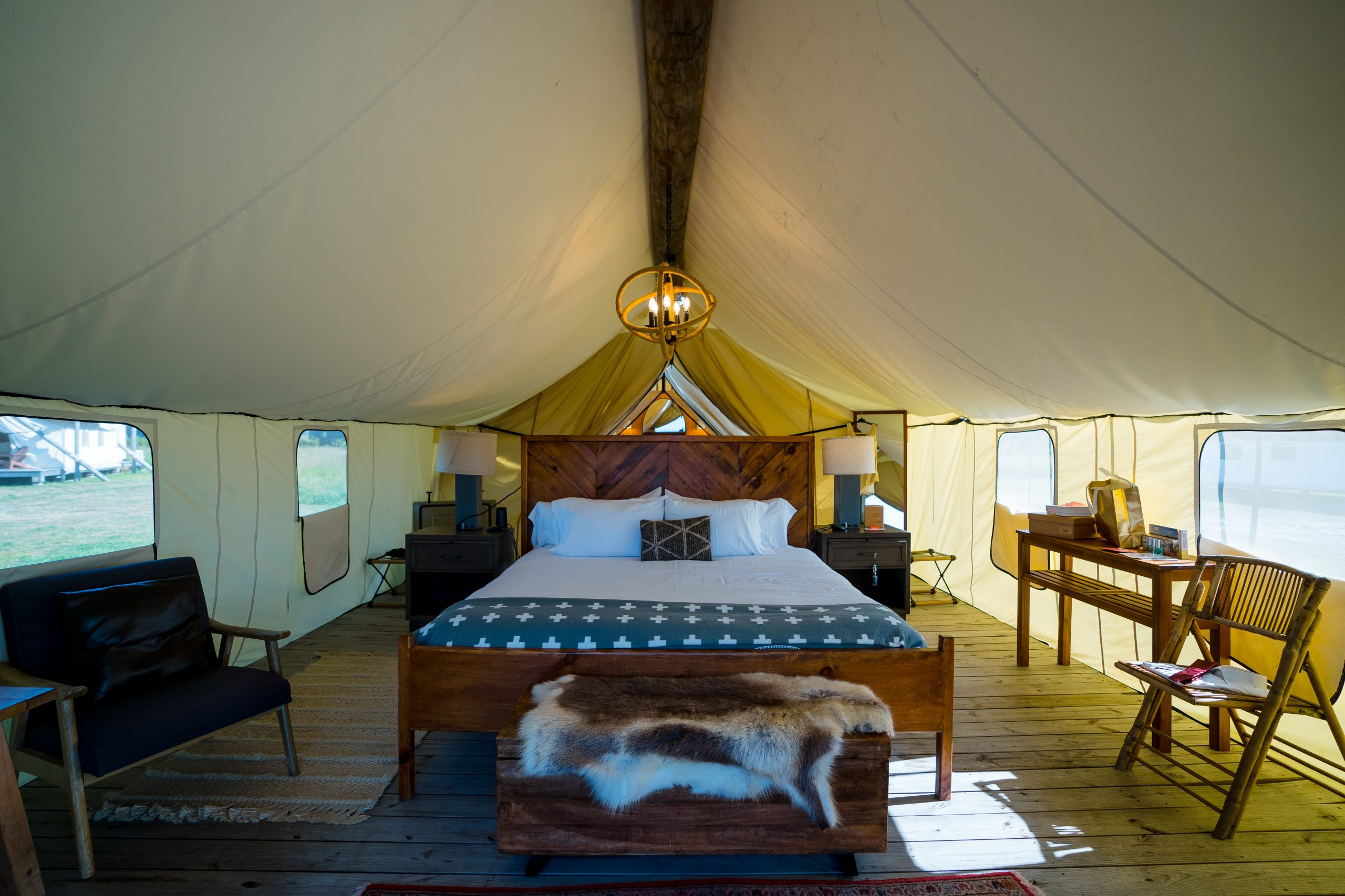 Influencer Event at Collective Retreats Glamping Resort at Governor's Island New York City