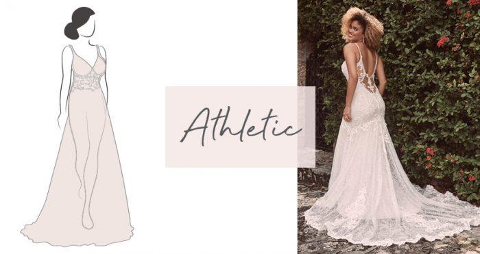 Diagram of Wedding Dress for Athletic Bride