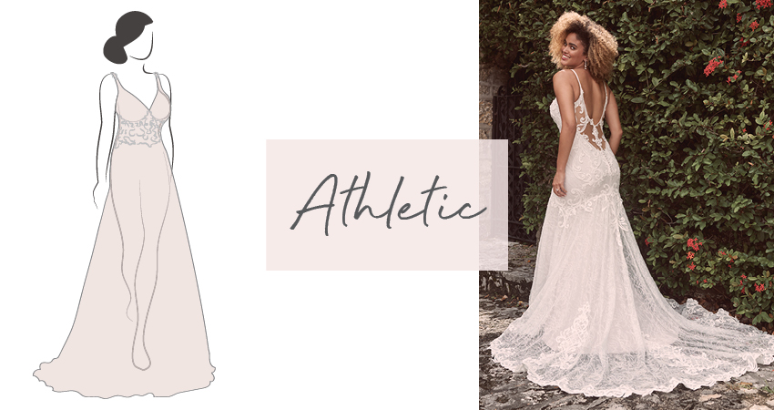 Diagram of Wedding Dress for Athletic Bride