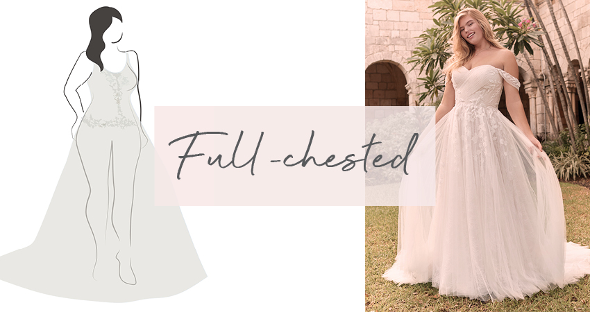 Diagram of Wedding Dress for Full-Chested Bride
