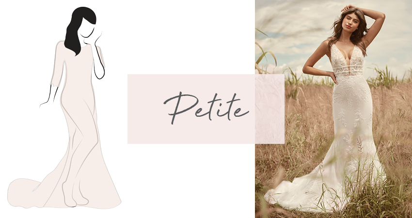Diagram of Wedding Dress for Petite Brides