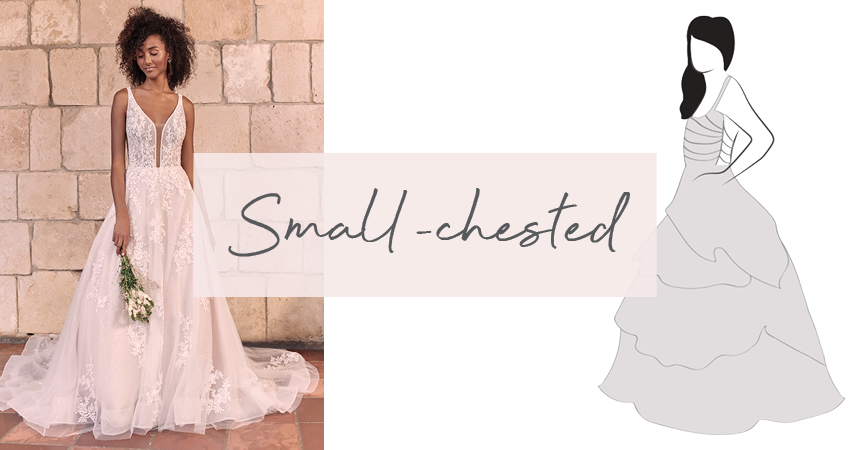 Diagram of Wedding Dress for Small-Chested Brides