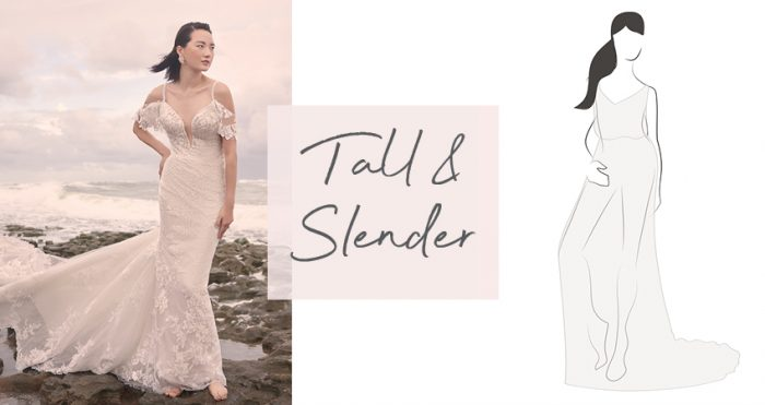 Diagram of Wedding Dress for Tall and Slender Bride