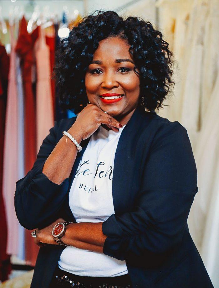 Katie Harris, Marketing Manager of Elite Secrets Bridal, a Black-owned Bridal Business