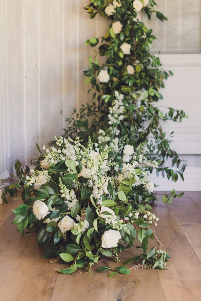 White and Green Florals for a Spring Wedding