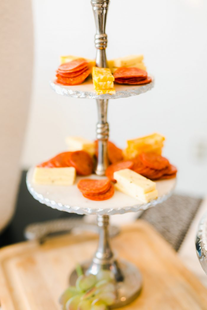 Cheese and Meat Trays at a Bridal Shower Planned by the Maid of Honor